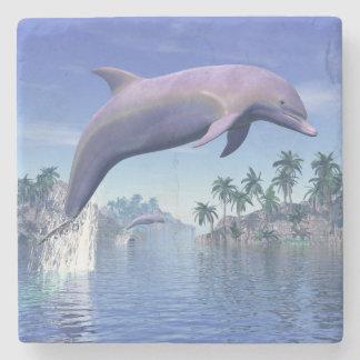 Porta-copo De Pedra Golfinho nos trópicos - 3D rendem