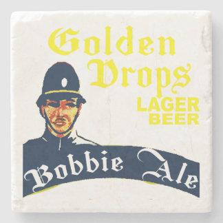 Porta-copo De Pedra Gotas douradas/cerveja inglesa de Bobbie
