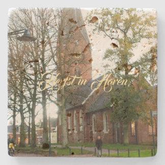 Porta-copo De Pedra Herfst em Haren Dorpcentrum Países Baixos Holland