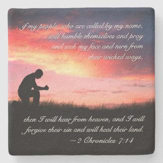 Porta-copo De Pedra Homem do verso da bíblia do 7:14 de 2 crónicas que
