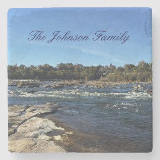Porta-copo De Pedra James River personalizou a família