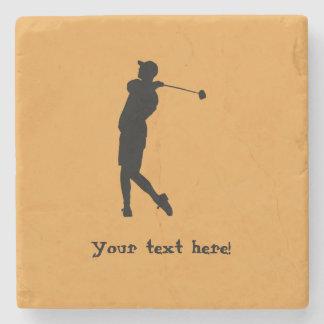 Porta-copo De Pedra Jogador de golfe