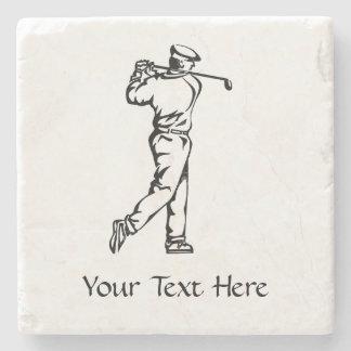 Porta-copo De Pedra Jogador de golfe personalizado
