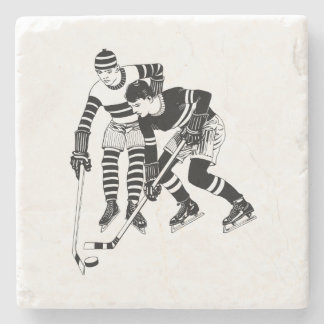 Porta-copo De Pedra Jogadores de hóquei do vintage