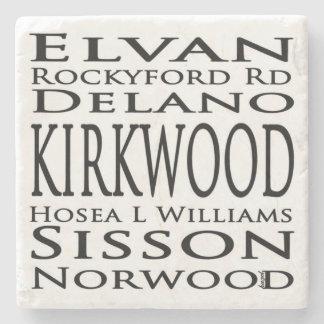 Porta-copo De Pedra Kirkwood, Atlanta, sinais de rua, Coasters. de