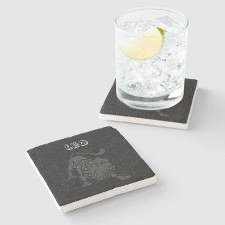 Porta-copo De Pedra Leo translúcido