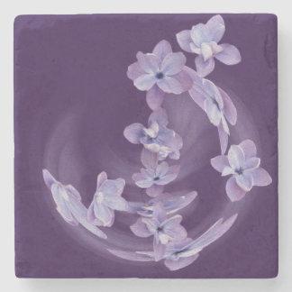 Porta-copo De Pedra Lilac no círculo