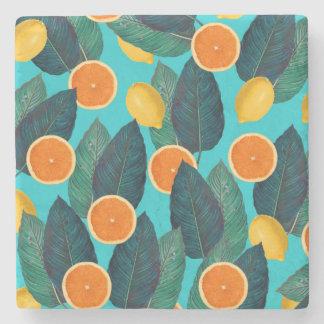 Porta-copo De Pedra limões e cerceta das laranjas