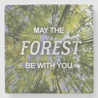 Porta-copo De Pedra Maio a floresta seja com você porta copos do