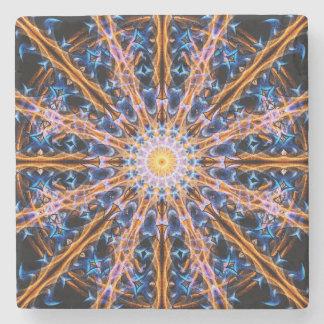 Porta-copo De Pedra Mandala da estrela da alquimia