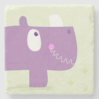 Porta-copo De Pedra Mármore dos desenhistas com rinoceronte