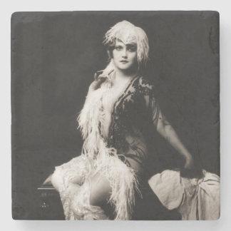 Porta-copo De Pedra Menina de Ziegfeld do vintage