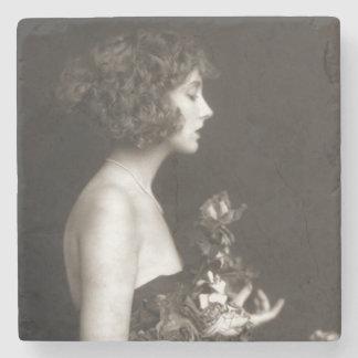 Porta-copo De Pedra Menina dos insensatez de Ziegfeld do vintage