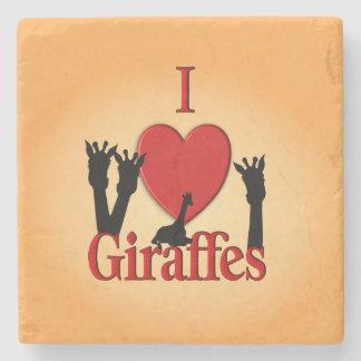 Porta-copo De Pedra Mim girafas do coração