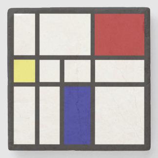 Porta-copo De Pedra Mondrian inspirou o design