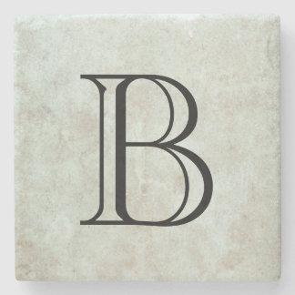 Porta-copo De Pedra Monograma elegante