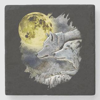 Porta-copo De Pedra Montanha da lua do lobo da fantasia