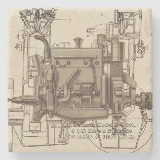 Porta-copo De Pedra Motor de gás X de Milwaukee Wisconsin do motor de