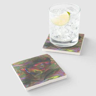 Porta-copo De Pedra Mulher abstrata dois