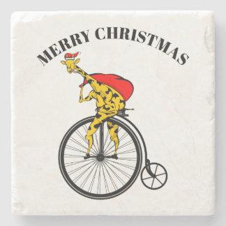 Porta-copo De Pedra Natal de Papai Noel do girafa