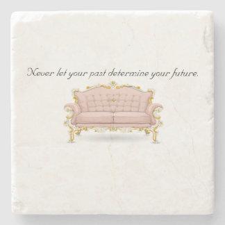 Porta-copo De Pedra Nunca deixe seu passado determinar seu futuro