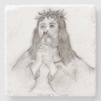 Porta-copo De Pedra O amor do salvador