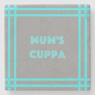 Porta-copo De Pedra O Cuppa da mãe - linhas azuis