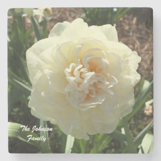 Porta-copo De Pedra O Daffodil branco personaliza sua família