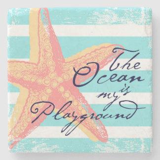 Porta-copo De Pedra O oceano é meu campo de jogos