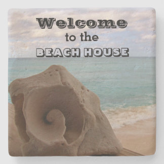 Porta-copo De Pedra Oceano náutico do Seashell da boa vinda da casa de
