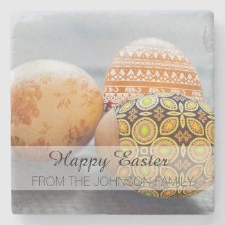 Porta-copo De Pedra Ovos da páscoa pintados rústicos