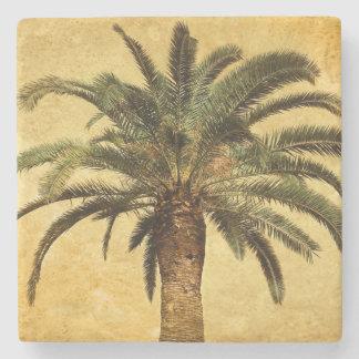 Porta-copo De Pedra Palmeira tropical do vintage da ilha do estilo