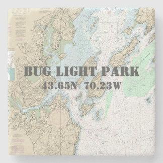 Porta-copo De Pedra Parque claro do inseto, carta autêntica do barco