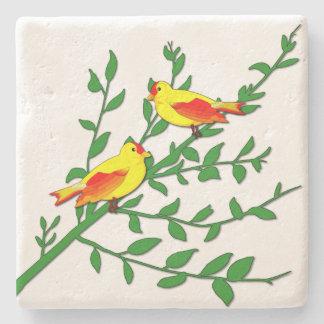 Porta-copo De Pedra Pássaros da paz