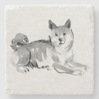 Porta-copo De Pedra Pedra original do ano 2018 do cão da pintura 2 de