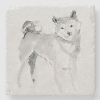 Porta-copo De Pedra Pedra original do ano 2018 do cão da pintura 3 de