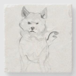 Porta-copo De Pedra Pedra original do ano 2018 do cão da pintura 4 de