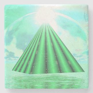 Porta-copo De Pedra Pirâmide Mystical - 3D rendem