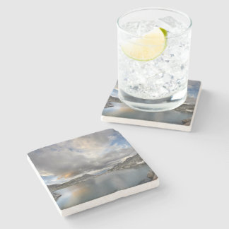 Porta-copo De Pedra Por do sol no lago médio Nydiver - serra