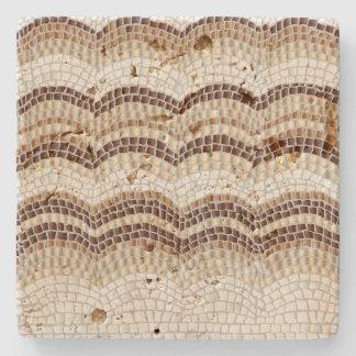 Porta-copo De Pedra Porta copos bege da pedra do travertino do mosaico