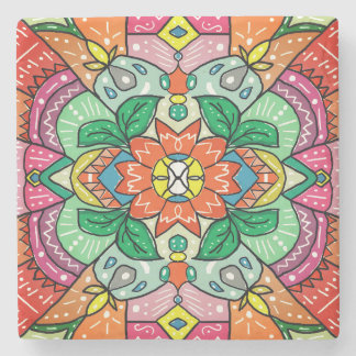 Porta-copo De Pedra Porta copos colorida