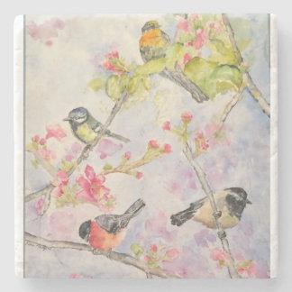 Porta-copo De Pedra Porta copos da pedra da arte da aguarela das aves