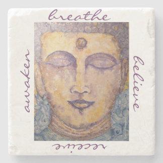 Porta-copo De Pedra Porta copos da pedra da arte da aguarela de Buddha