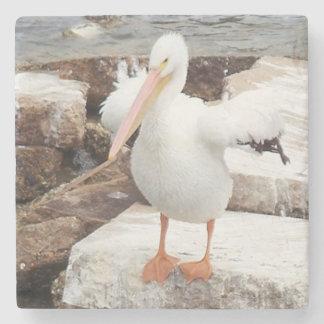 Porta-copo De Pedra Porta copos de mármore do pelicano