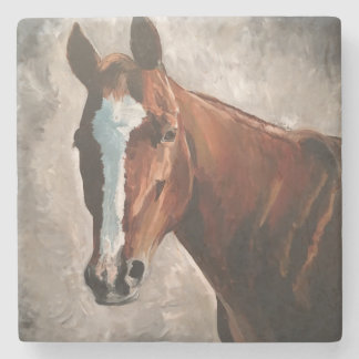 Porta-copo De Pedra Porta copos do azulejo do mármore do cavalo da