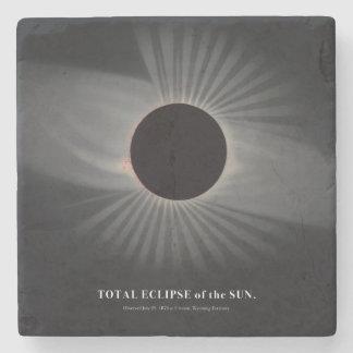 Porta-copo De Pedra porta copos do eclipse solar dos 1800s
