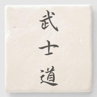 Porta-copo De Pedra Porta copos do Kanji de Bushido