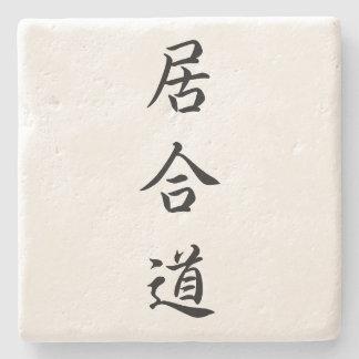 Porta-copo De Pedra Porta copos do Kanji de Iaido