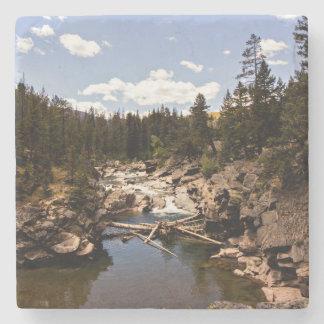 Porta-copo De Pedra Porta copos do rio da montanha de Montana