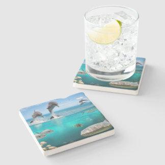 Porta-copo De Pedra Porta copos marinha da pedra dos animais selvagens